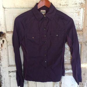 Converse Purple Button Down Shirt